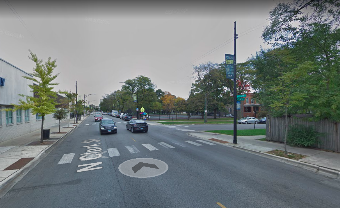 Intersection of Chase Avenue and Clark Street