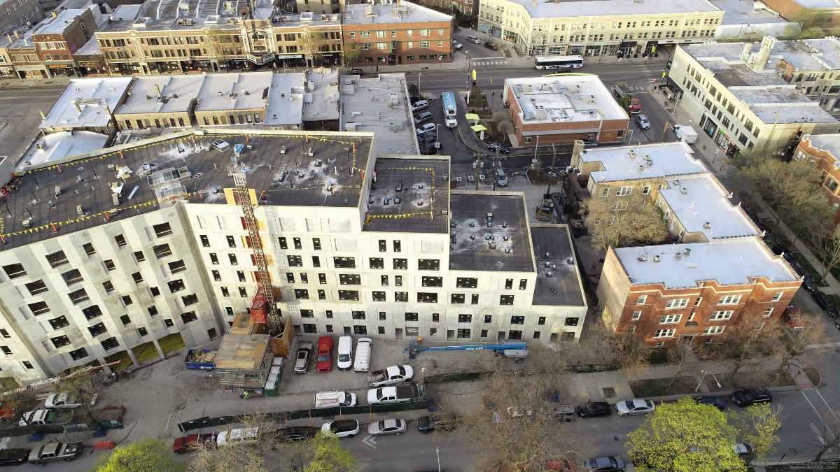 Block Club Chicago: 100-Unit Affordable Housing Project Next To Logan Square Blue Line Station Could Be Finished By End Of 2021